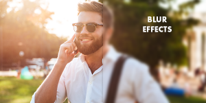 How To Apply Blur Using Man Style Editor